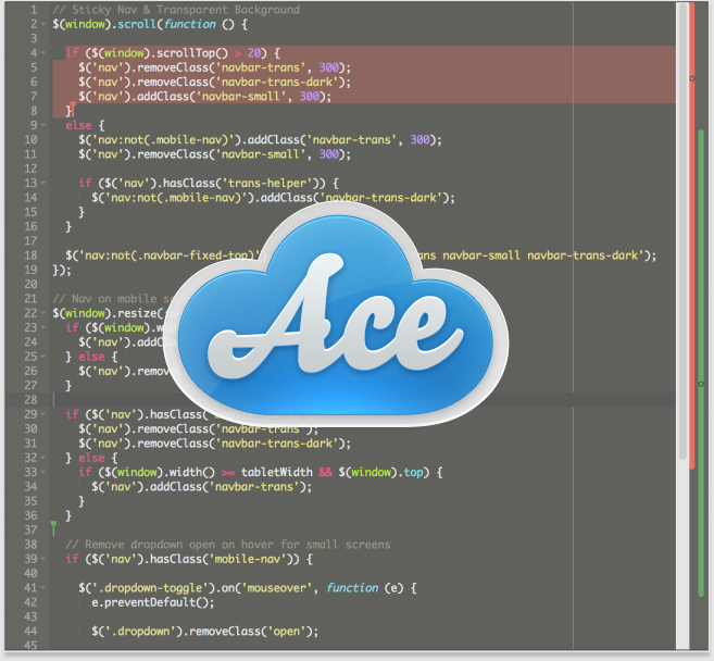 Introducing Collaborative Extensions for the Ace Editor